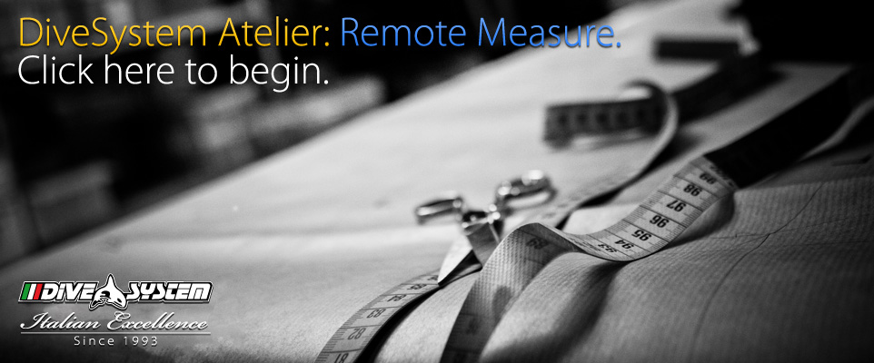 DIveSystem AMde to Measure Dry Suits: Remote Made to Measure