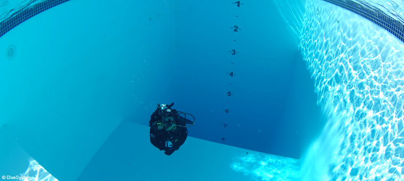 DiveSystem Company: The 10 mt depth pool view2