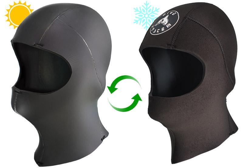 Cappuccio 4S Double-Face lato caldo e lato freddo