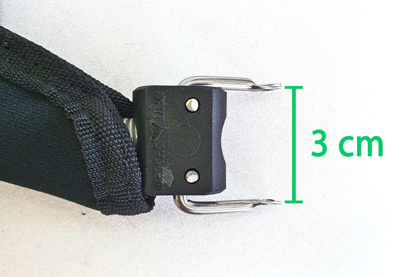 Tech fin fastening strap size