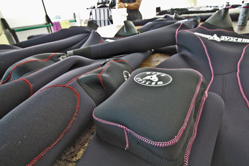 Semi dry suit production